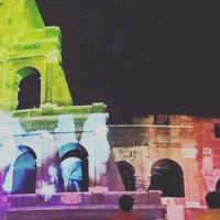 The rainbow shines over Italy